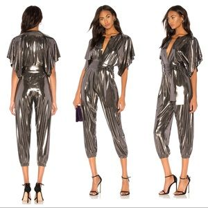 Rectangle Jog Jumpsuit in Gunmetal Norma Kamali